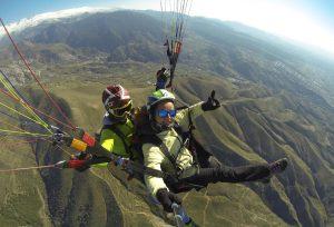 Sobrevolando en biplaza el Cerro de los Majojos