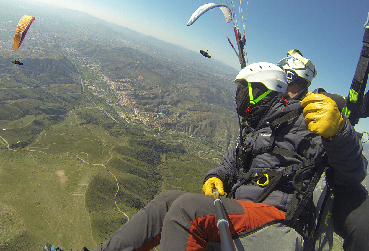 Parapente biplaza competicion en Liga Andaluza de Parapente