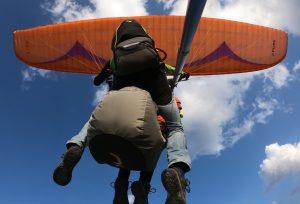 Cielo y nuestro parapente biplaza - Adrenaline Fight